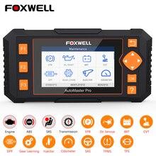 Foxwell – NT634 Scanner professionnel de diagnostic de voiture, outil de réinitialisation du moteur, ABS, SRS, système de Transmission, OBD2, DPF, huile, SAS, EPB, TPMS