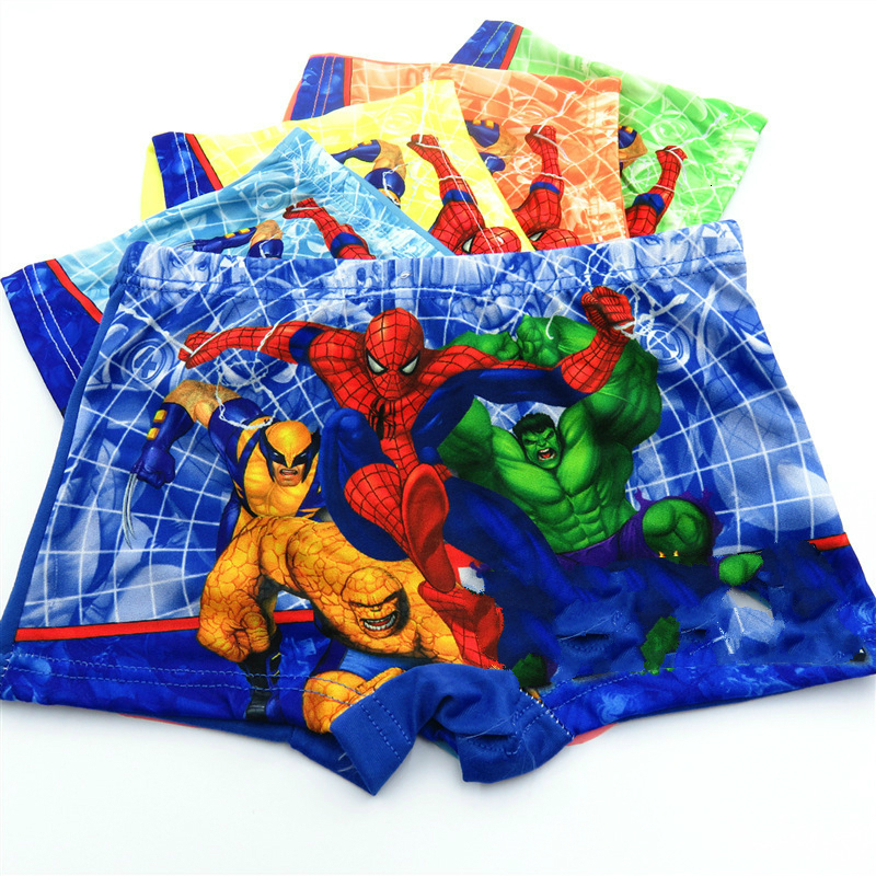 New Store Promotion 5pcs/lot Briefs For Boys Underwears Panties Infant Boxer Spiderman Cotton Teenagers For 3-12 Y Panty Child
