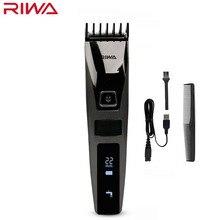 ريوا K3 USB مقص الشعر المهنية مع كابل يو اس بي قابلة للشحن مقاوم للماء الرجال الشعر المتقلب آلة اللاسلكي شاشة الكريستال السائل