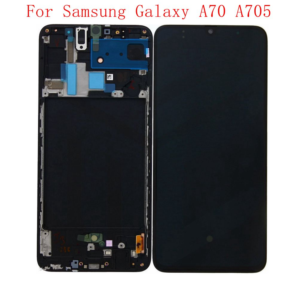 2019 Super Amoled For <font><b>Samsung</b></font> Galaxy <font><b>A70</b></font> A705 A705F/DS <font><b>Lcd</b></font> screen Display WIth Touch Glass Frame Full Assembly image
