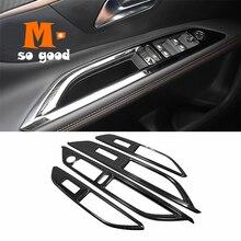 2017 18 19 20 2021 für Peugeot 3008 GT 5008 Auto Armlehne Glas aufzug Fenster Schalter taste Abdeckung Trim Edelstahl styling Zubehör
