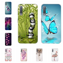 For Samsung Galaxy A3 A7 2018 Case TPU For Samsung Galaxy J1 2016 Cover Panda Patterned For Samsung Galaxy J2 Core J2 Prime Capa все цены