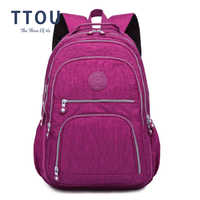 TTOU School Backpack for Teenage Girl Mochila Feminina Women Backpacks Nylon Waterproof Casual Laptop Bagpack Female Sac A Do