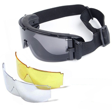 Tactical-Glasses Safety-Goggles Airsoft Hunting X800 UV400 Sport USMC 3-Lens Outdoor