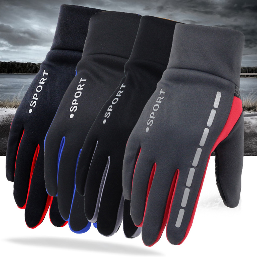 Mens Winter Warm Gloves Therm With Anti-Slip Elastic Cuff,Thermal Soft Lining Gloves Driving Gloves PU Leather Glove 2019
