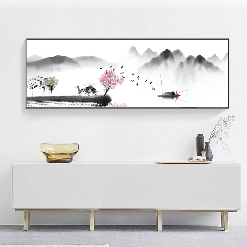 Китайская абстрактная картина маслом Zen на холсте, плакаты и принты, настенные художественные картины для гостиной, домашнего декора, без ра...