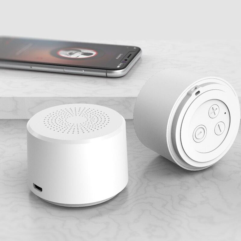 2019 Круглый Портативный мини беспроводной Bluetooth динамик сабвуфер умный Голосовое управление портативный Bluetooth динамик 5,0