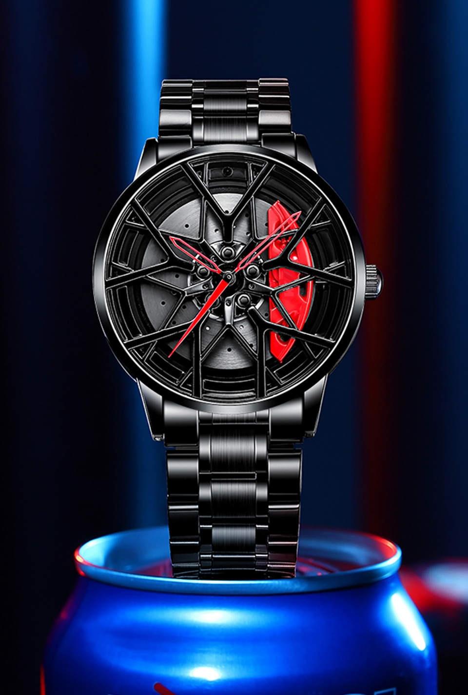 Hff2ab6299d134e5392fa25c9cd50a2abr NIBOSI 2020 Car Rim Hub Wheel Watch Custom Design