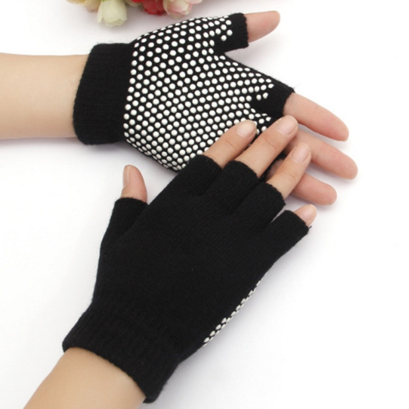 2019 Fashion Non-Slip Gloves Men And Women Half Finger Work Casual Solid Colours Gloves 4 Colors