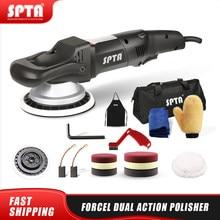 Spta 5 polegada/6 polegada 125mm forçado rotação dupla ação polidor, polidor do carro da polidor & almofadas de polimento