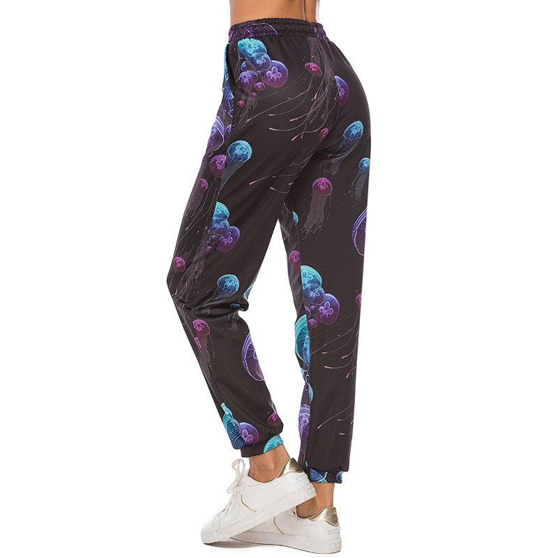 Женские леггинсы с 3D принтом медузы, модные леггинсы с высокой талией, женские штаны для фитнеса, женские леггинсы, большие размеры, Лидер