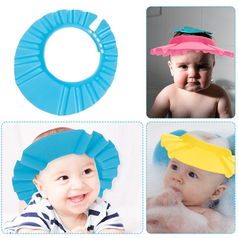 Baby Shower Hats Bath Hair Washing Hat Ear Eyes Protection Children Infant Adjustable Shield Wash Cap Boys Shampoo Hair Hat New