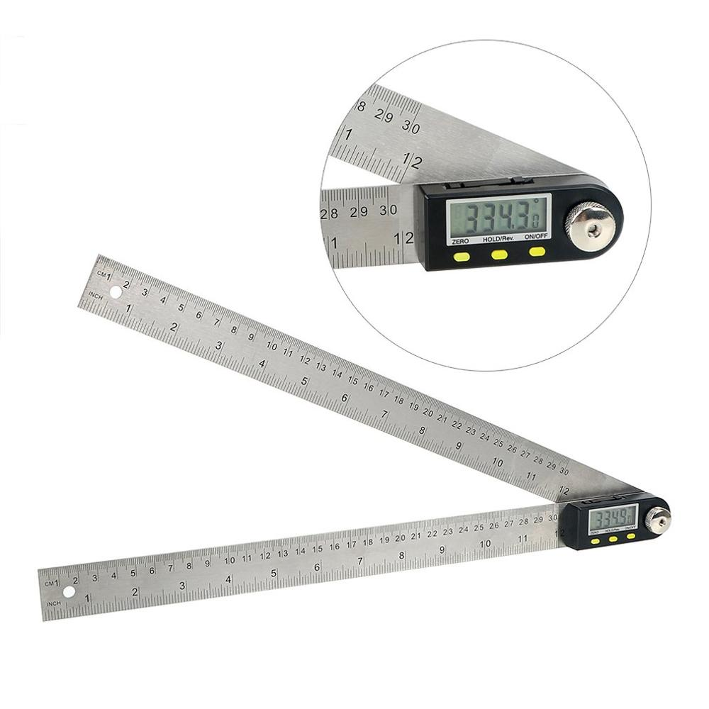 300mm Digital Meter Angle Inclinometer Angle Digital Ruler Electronic Goniometer Conveyor Angle Finder Measuring Tool