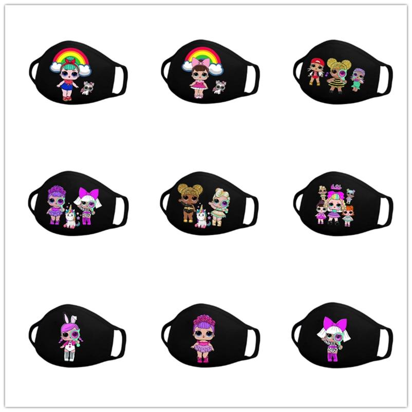 LOL Surpris с персонажами из мультфильмов из хлопка малыш уход за кожей лица маска прикуса Анти-пыль многоразовые дышащая маска для лица на защит...