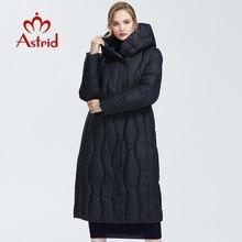 Astrid 2019 kış yeni varış şişme ceket kadınlar gevşek giyim giyim kaliteli mavi renk kalın pamuklu kış ceket AR 7051