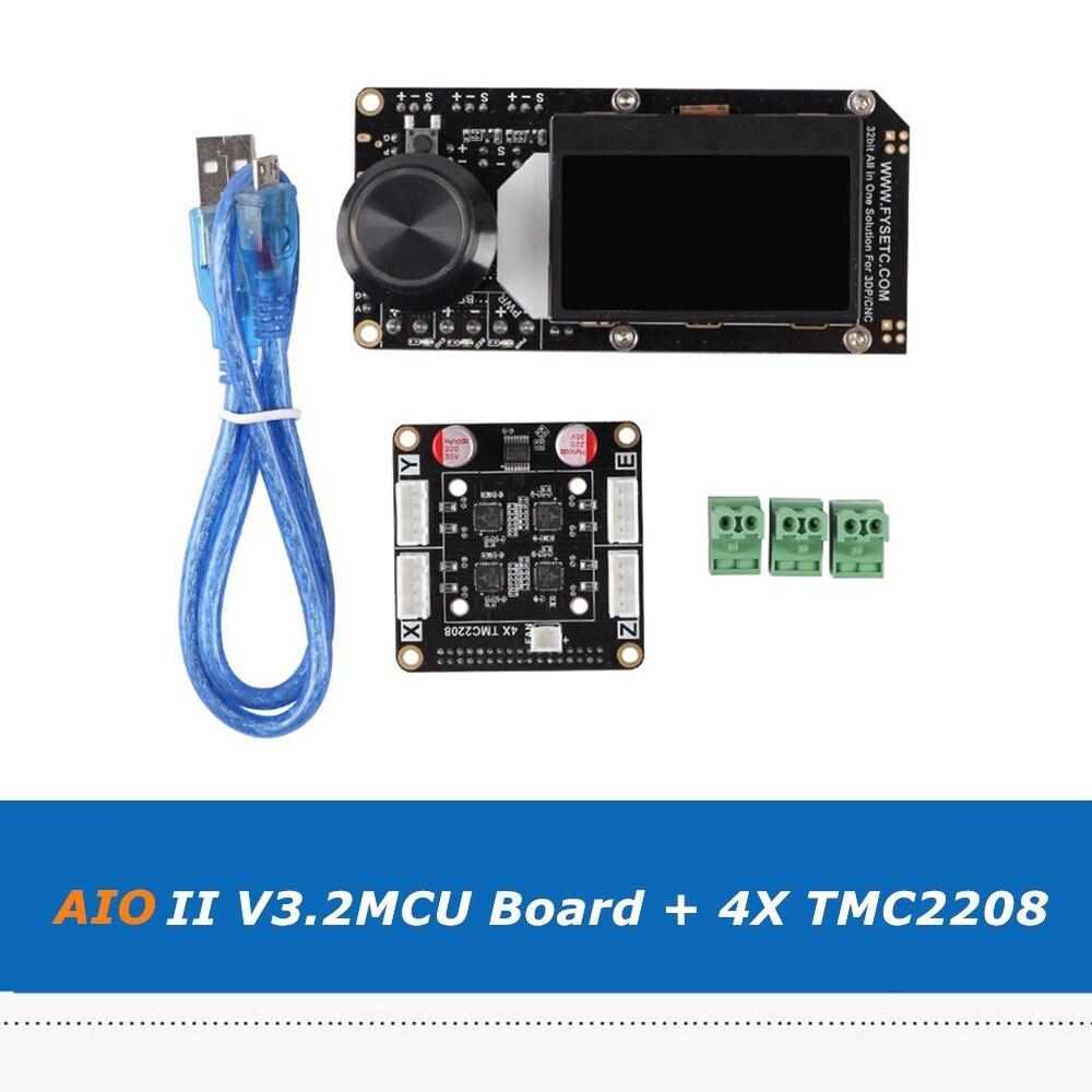 All In One AIO II V3.2MCU 32bit Control Board+ 4X TMC2208 Integrated Driver Module For 3DP/CNC 3D Printer Parts