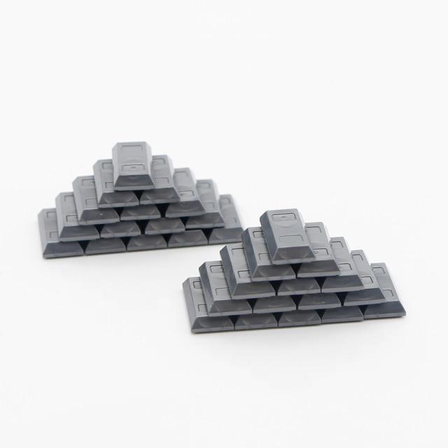 친구 액세서리 빌딩 블록 100 달러 빌 머니 패턴 골드 실버 현금 부품 MOC 벽돌 완구 호환 도시 블록