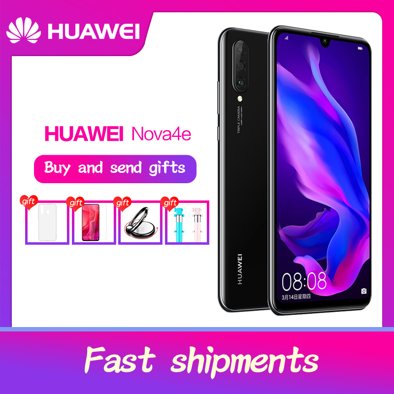 HUAWEI P30 Lite Nova 4e Smartphone  6.15 inch Full Screen Android 9.0 Dual SIM Card Slot 2312x1080 Kirin 710 Octa Core 4*Cameras-in Cellphones from Cellphones & Telecommunications    1