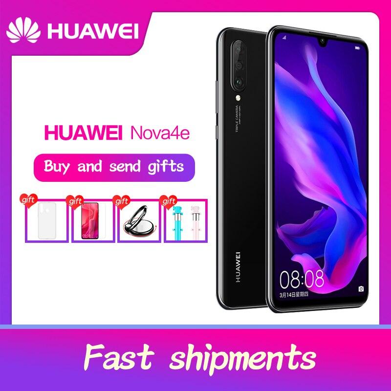 Huawei p30 lite nova 4e smartphone 6.15 polegada tela cheia android 9.0 slot para cartão sim duplo 2312x1080 kirin 710 octa núcleo 4 * câmeras