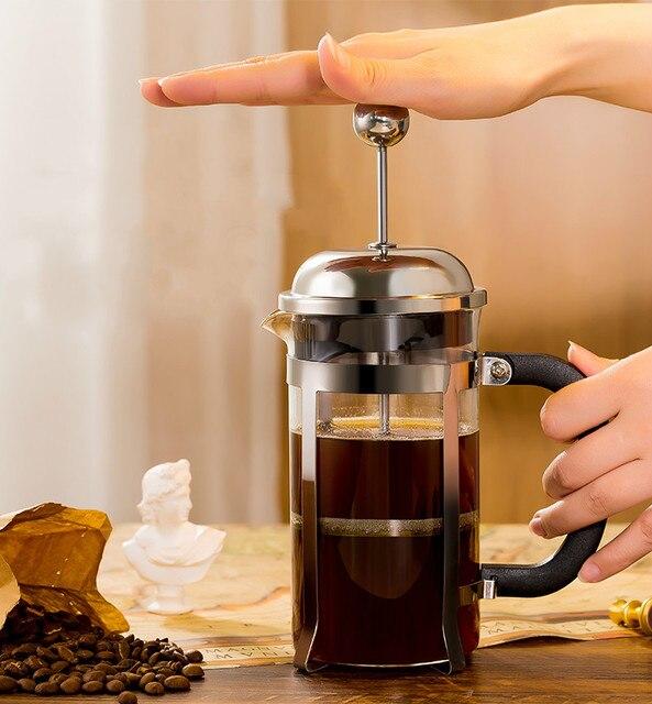Franse Druk Pot Koffie Hand Brouwen Pot Set Thuis Brouwen Koffie Filter Apparaat Melkopschuimer Thee Maker Koffie Filter Cup