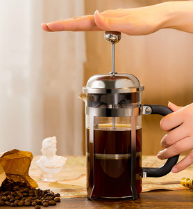 Image 1 - French pressure pot coffee hand brewing pot set home brewing coffee filter appliance milk frother tea maker coffee filter cup