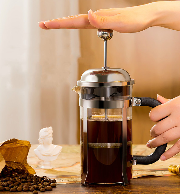 French pressure pot coffee hand brewing pot set home brewing coffee filter appliance milk frother tea maker coffee filter cup