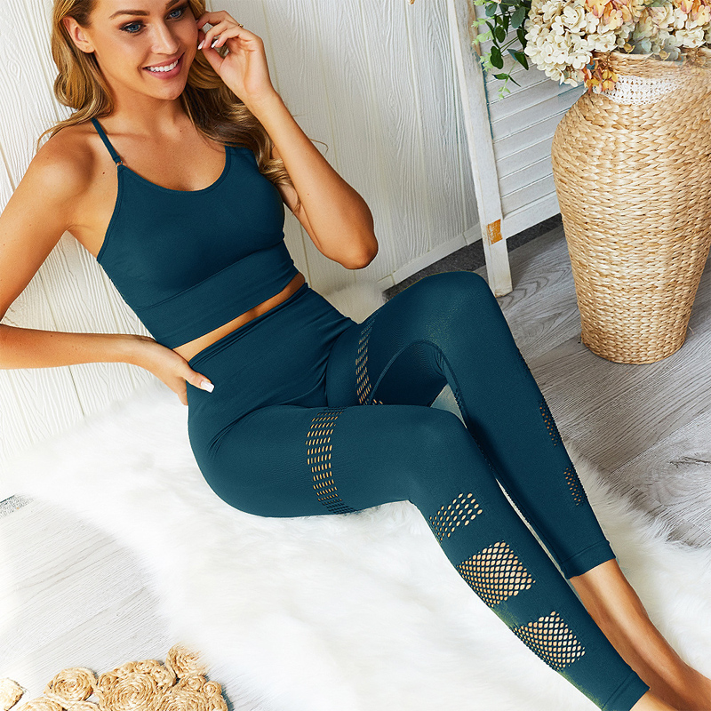 Women's New Seamles Gym Clothing Gym Yoga Set Fitness Workout Sets Outfits For Female Workout Athletic Legging Sportswear Suit