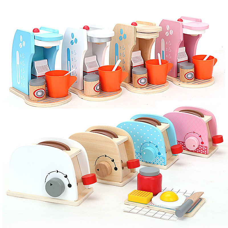 Kitchen Toys Imitated Chef Pretend Cooking Food Play Dinnerware Set Safe Cute Children Girl Wooden Educational  Toy Gift Game
