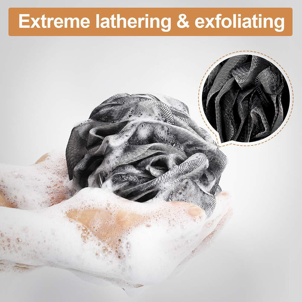 Hygienic Environmental Soft Bamboo Charcoal Bathing Ball Dirt Exfoliation Remover Carbon Clean Towel