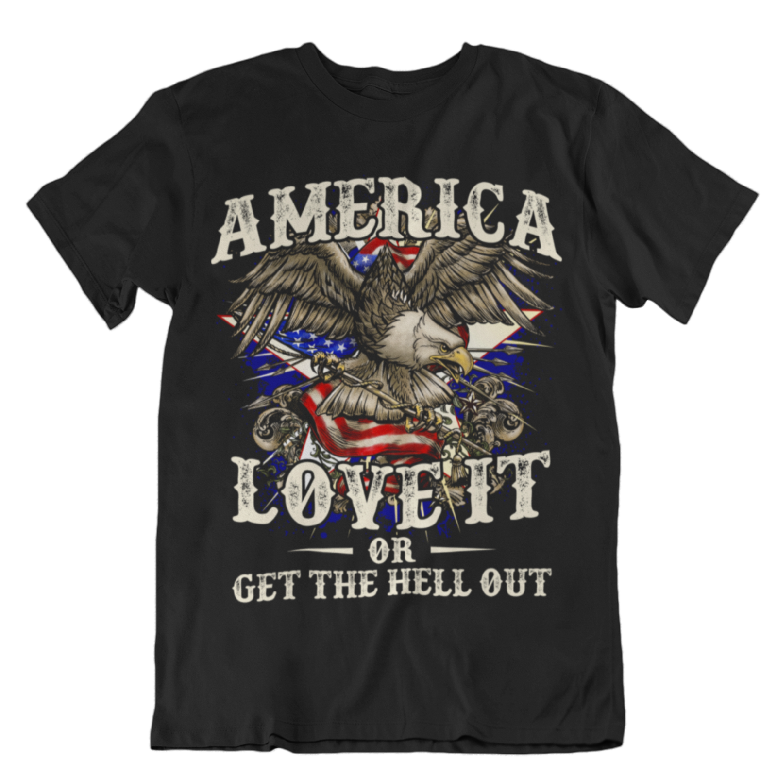 America Love It Or Leave It Shirt MAGA Trump 2020 T Shirt <font><b>Kag</b></font> Shirt RR04 image