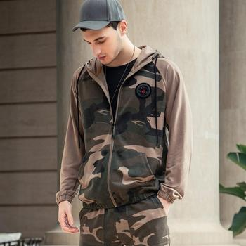Men Sets Camouflage Casual Tracksuit 2020  5
