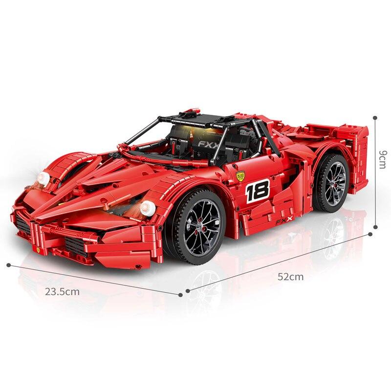 MOC 5902 5889 APP moteur RC compatible avec Iegoset course Sport voiture technique série blocs de construction briques cadeaux de noël jouets