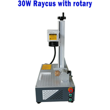 hot-selling cnc split style Raycus 30W with rotary fiber laser marking machine for sale