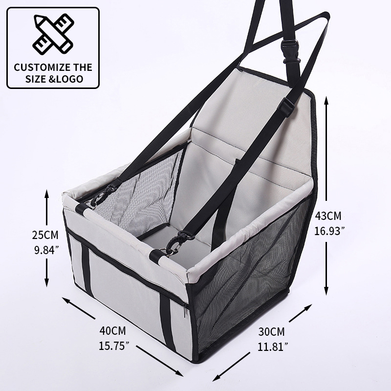 CAWAYI KENNEL Travel Dog Car Seat Cover Folding Hammock Pet Carriers Bag Carrying For Cats Dogs transportin perro autostoel hond 6
