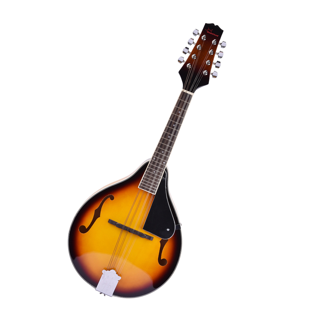 Traditional Bluegrass 8 String Mandolin, Easy Play, Adjustable Bridge For Beginners