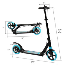 Scooter For Adult&Teens,3 Height Adjustable Easy Folding Double Shock Absorber