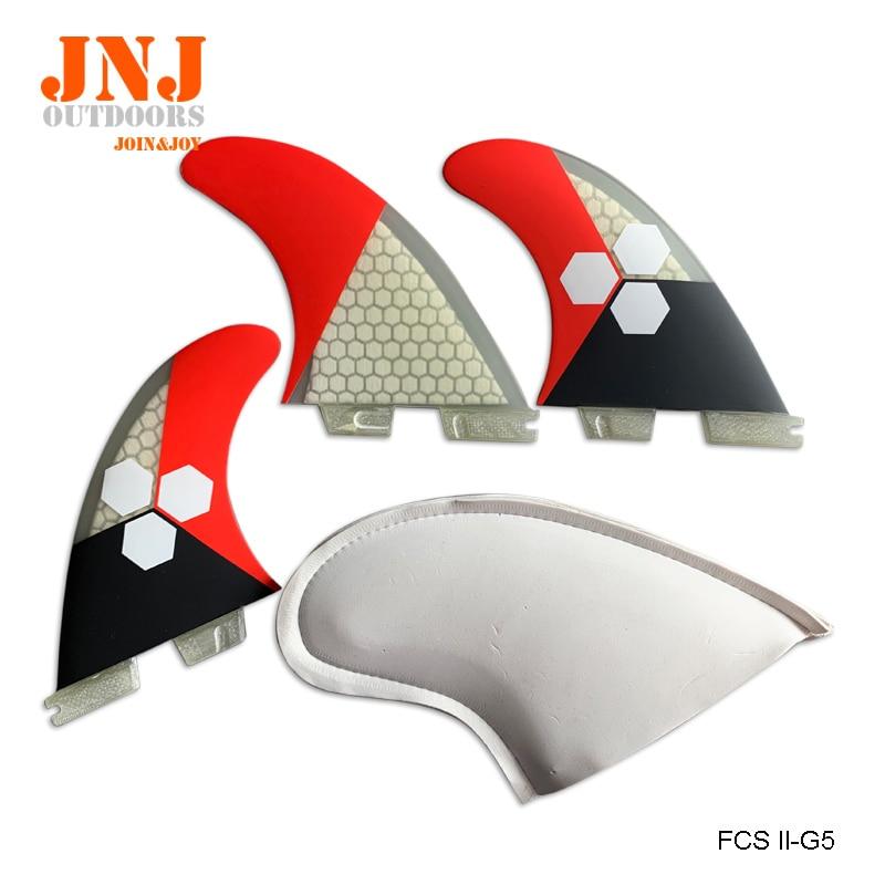 PERFECT fit standard fiberglass FCS II M G5 surfboard surfing fins FCS 2 thruster with honeycomb