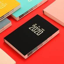 Jornal memo planejador de caderno, 2020 anos, diário, semanal, fácil de transportar
