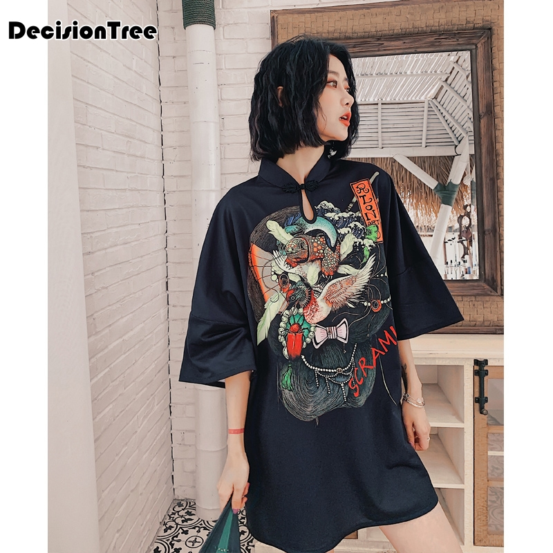 2020 Chinese Dress Chinese Traditional Dress Women's Silk Satin Cheongsam Vintage Qipao Short Sleeve Long Dress Flower Plus