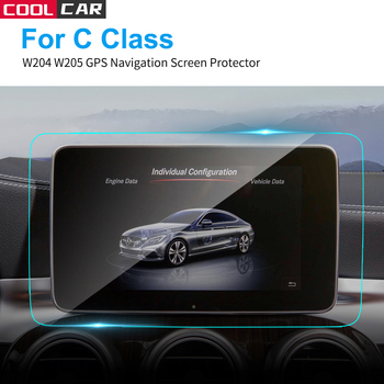 Car GPS Navigation Screen Protector HD Clear Tempered Glass Protective Film for Mercedes Benz W204 W205 C Class Car Accessories image