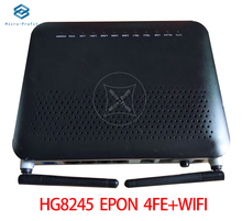 5pcs/Lot HG8245 EPON 4GE/FE+WIFI ONU OLT Second hand products Optical Network Terminal no Power Adapter Free shipping
