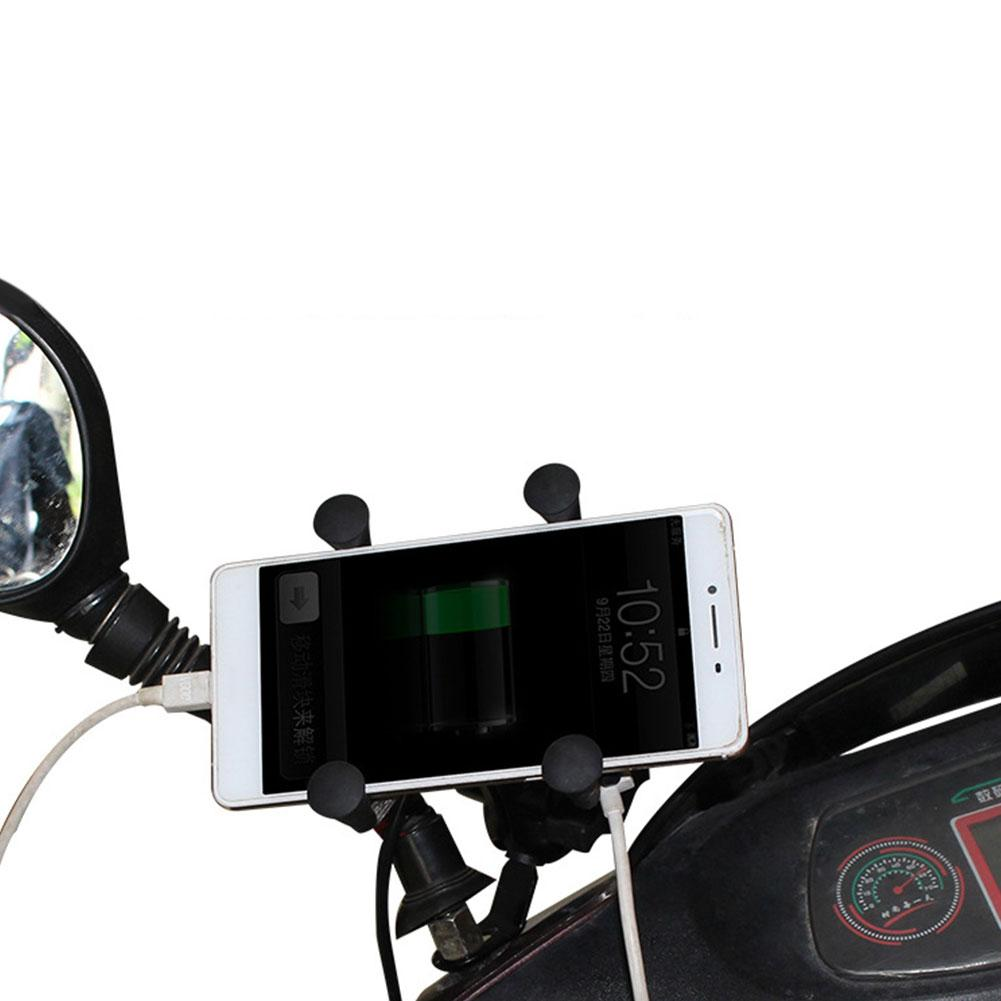 Motorcycle Scooter Handlebar Mobile Phone Mount...