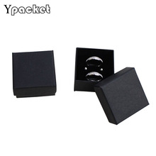 Free shipping wholesale 100pcs /lot 5*5*3cm Black Ring Display Box Jewelry Gift Packaging Box Earring Paper Box
