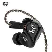 Наушники вкладыши KZ ZS3E, черные динамические Hi Fi стереонаушники, спортивные наушники с шумоподавлением, игровые музыкальные наушники с ограничением