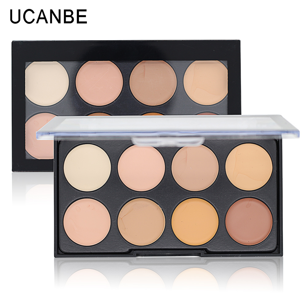 Kiss Beauty Face Contour 8 Color Make Up Concealer Cream Contour Makeup Camouflage Concealer Palette Brighten Waterproof