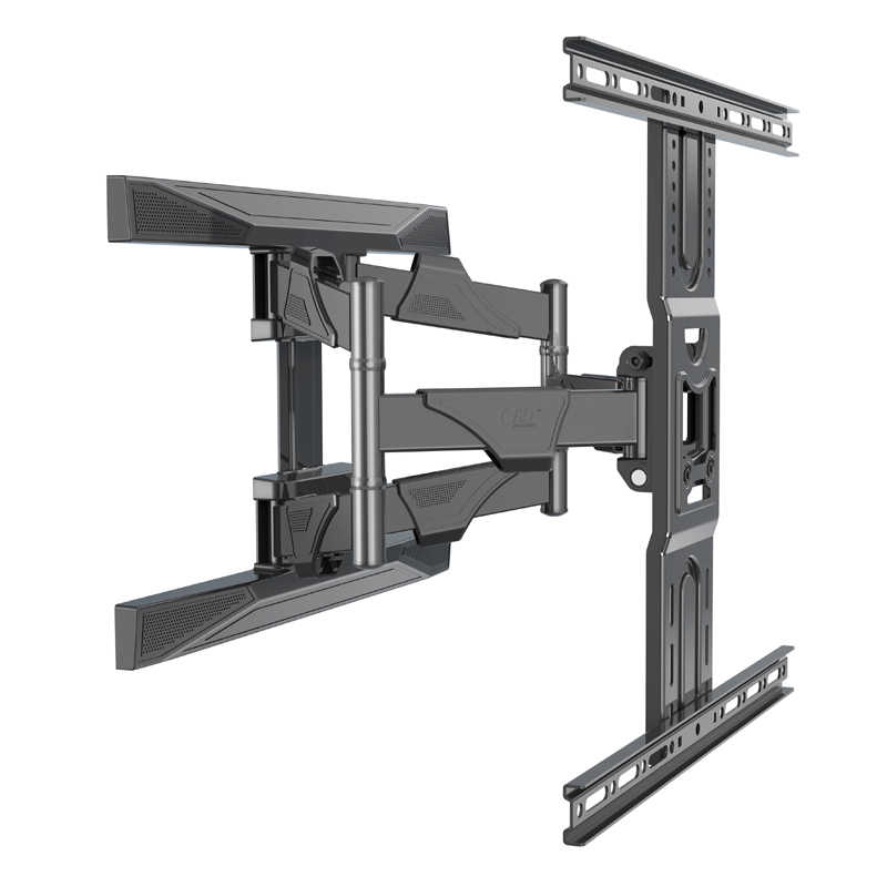 """NB P6 universal strong ultra slim 6 arm 45.5kg 60"""" 30""""-70"""" retractable LCD tv wall mount BRACKET with cable cover retractable"""