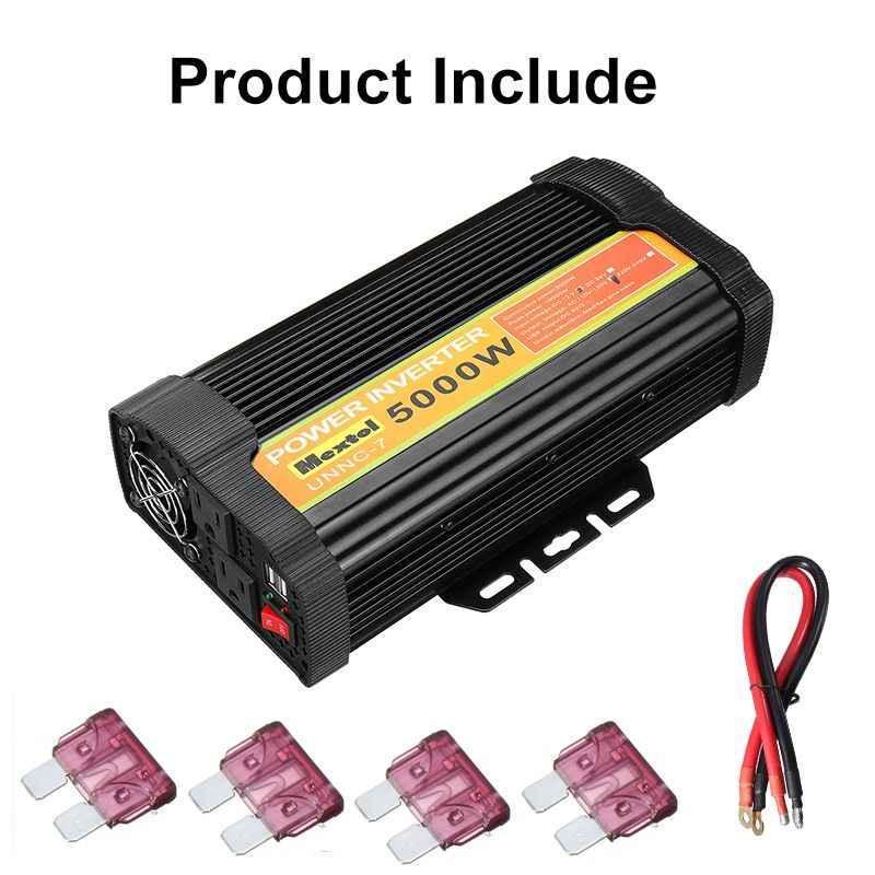Çift USB 10000W DC 12V AC 110V araba güç invertörü şarj dönüştürücü adaptör DC 12V AC 110V modifiye sinüs dalgası trafo