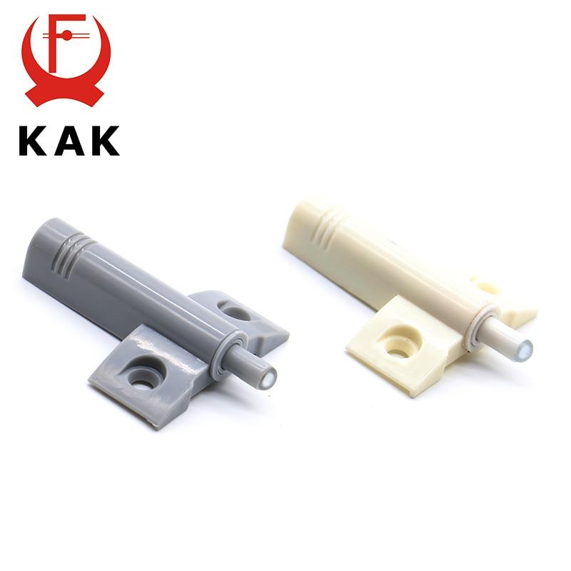 Купить с кэшбэком KAK High Quality 10Set/Lot Gray White Kitchen Cabinet Door Stop Drawer Soft Quiet Close Closer Damper Buffers With Screws