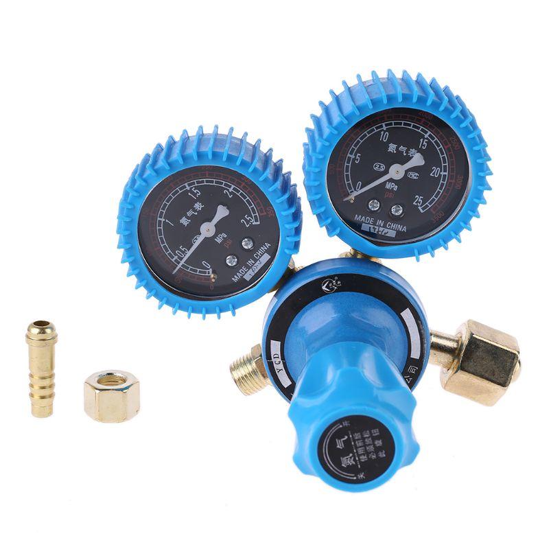 Nitrogen Pressure Gauge Welding Regulator Gauge Dual Nitrogen Pressure Reducer 19QB