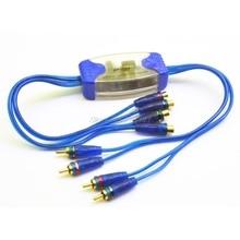 Универсальный 12 В шумоподавитель 4 канала RCA заземление петля изолятор шум фильтры для аудио автомобиля